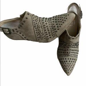 Kaari Tan Kristin Studded Bootie Boots size 7